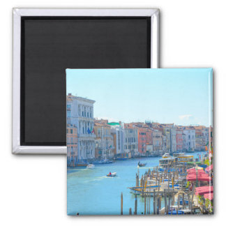 Boats in the Canals of Venice Italy Magnet