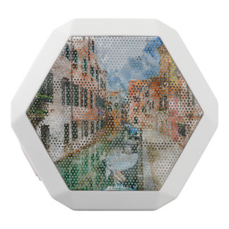Boats in the Canals of Venice Italy White Bluetooth Speaker