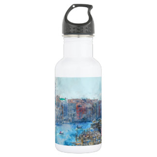 Boats in the Grand Canal in Venice Italy 532 Ml Water Bottle