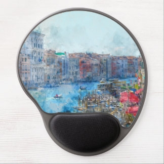 Boats in the Grand Canal in Venice Italy Gel Mouse Pad