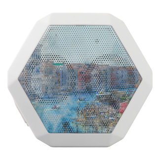 Boats in the Grand Canal in Venice Italy White Bluetooth Speaker