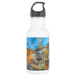 Boats in the Grand Canal of Venice Italy 532 Ml Water Bottle