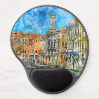 Boats in the Grand Canal of Venice Italy Gel Mouse Pad