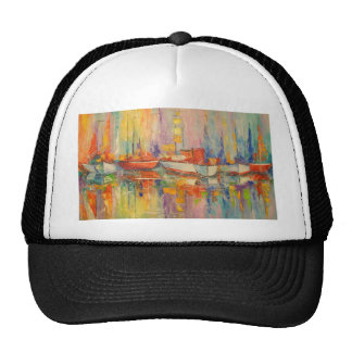 Boats in the Harbor Cap