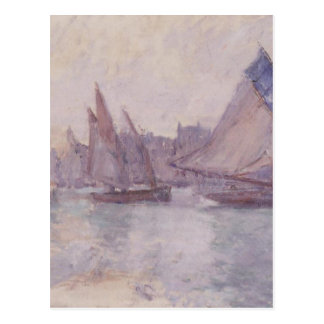 Boats in the Port of Le Havre by Claude Monet Postcard