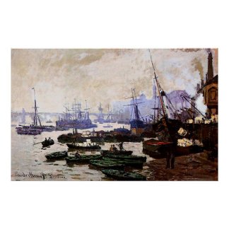 Boats in the Port of London,1871 Print