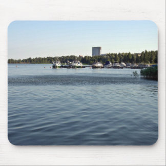 Boats in the waterscape mousepad