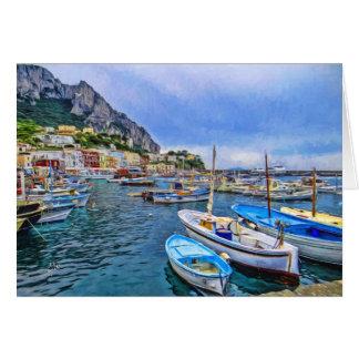 Boats of Capri Blank Card
