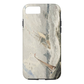 Boats on a Stormy Sea (w/c over graphite on wove p iPhone 7 Case
