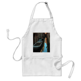 Boats on Canal Water Venice Italy Buildings Adult Apron
