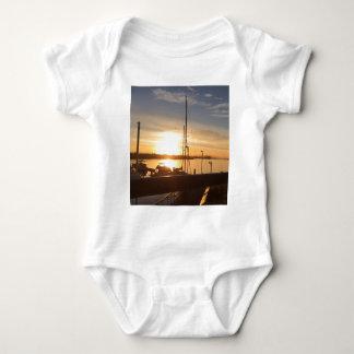 Boats on Marina at Sunset Baby Bodysuit