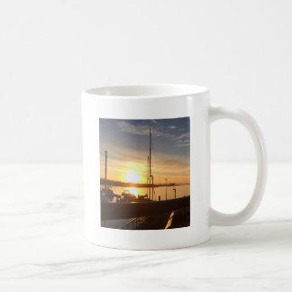 Boats on Marina at Sunset Coffee Mug