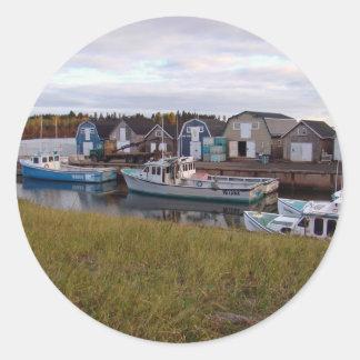 Boats on Prince Edward Island Round Sticker