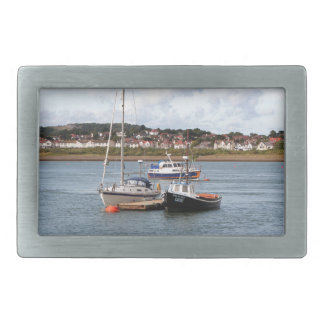 Boats on River Conwy, Wales Belt Buckles
