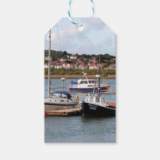 Boats on River Conwy, Wales Gift Tags