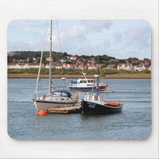 Boats on River Conwy, Wales Mouse Pad