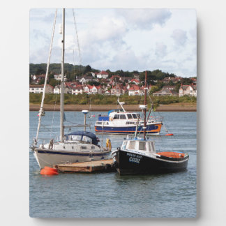 Boats on River Conwy, Wales Plaque