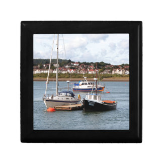 Boats on River Conwy, Wales Small Square Gift Box
