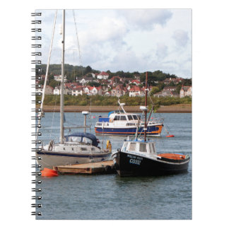 Boats on River Conwy, Wales Spiral Notebook