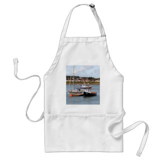 Boats on River Conwy, Wales Standard Apron