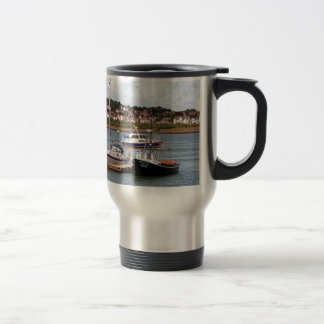 Boats on River Conwy, Wales Travel Mug