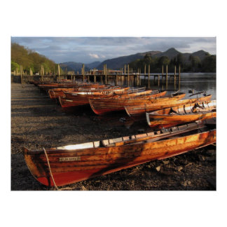 Boats on Shores of Derwent Water Poster