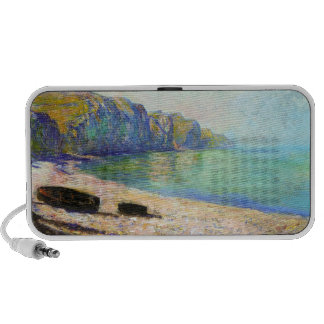 Boats on the Beach at Pourville Low Tide Monet PC Speakers