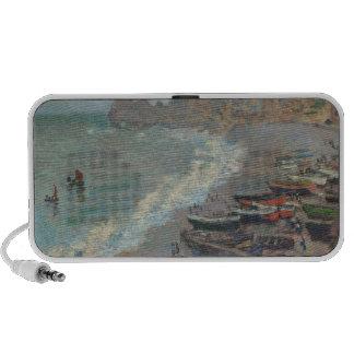 Boats on the Beach Claude Monet iPod Speaker
