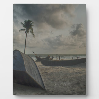 Boats on the Beach Photo Plaque