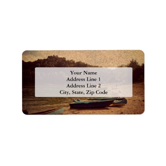 Boats on the lake Address Labels