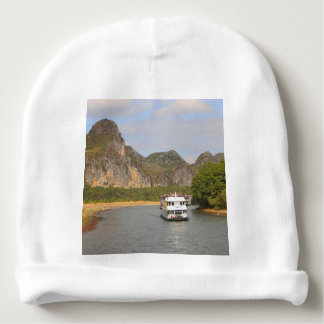 Boats on the Li River, China Baby Beanie