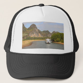 Boats on the Li River, China Trucker Hat