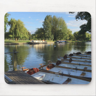 Boats on the River, Stratford Upon Avon, UK Mouse Pad