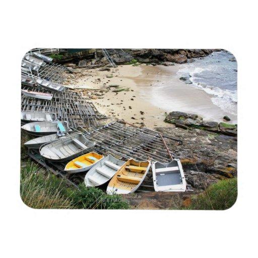 Boats on the shore of Gordon's Bay Vinyl Magnets