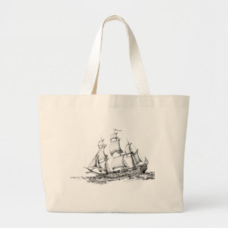 boats on the water large tote bag