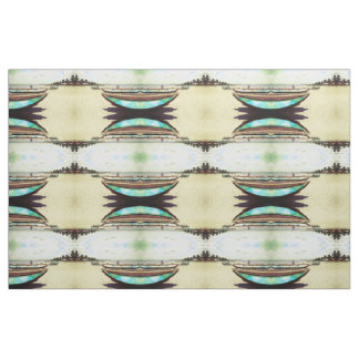 Boats on Tropical Beach Pattern Fabric