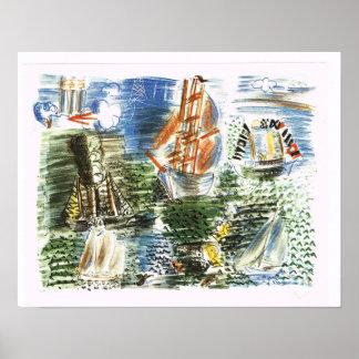 'Boats' Raoul Dufy Poster