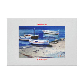 Boats/Small boats Stretched Canvas Print