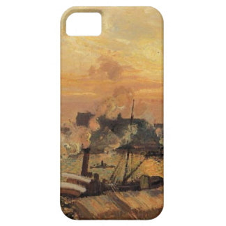 Boats, Sunset, Rouen by Camille Pissarro iPhone 5 Case