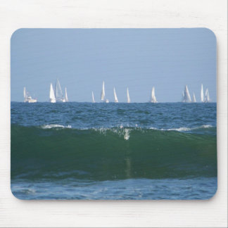 Boats & The Waves Mouse Pad
