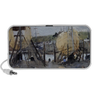 Boats under Construction by Berthe Morisot iPod Speakers