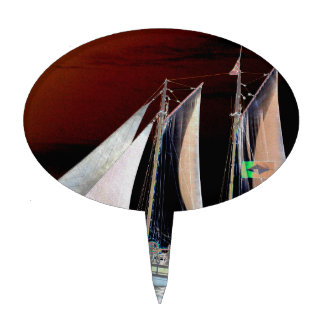Boats under Sail Cake Picks