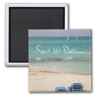 boatsretouched, Save the Date Square Magnet