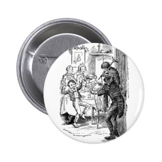 Bob and Tiny Tim 6 Cm Round Badge