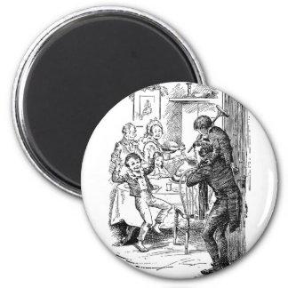 Bob and Tiny Tim 6 Cm Round Magnet