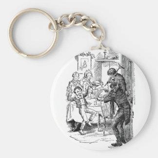 Bob and Tiny Tim Basic Round Button Key Ring