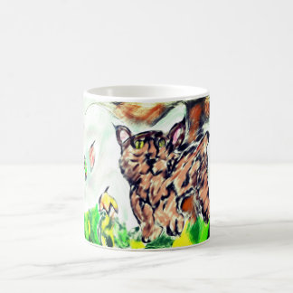Bob cat art coffee mug