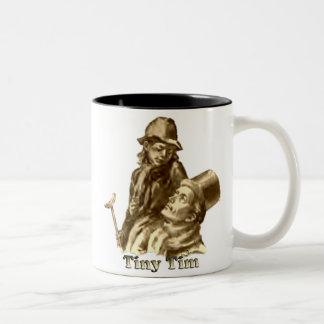 Bob Cratchit and Tiny Tim Christmas Carol Two-Tone Coffee Mug