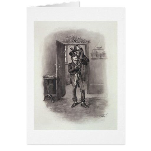 Bob Cratchit and Tiny Tim, from 'Charles Dickens: Greeting Cards