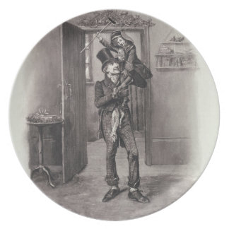Bob Cratchit and Tiny Tim, from 'Charles Dickens: Dinner Plate